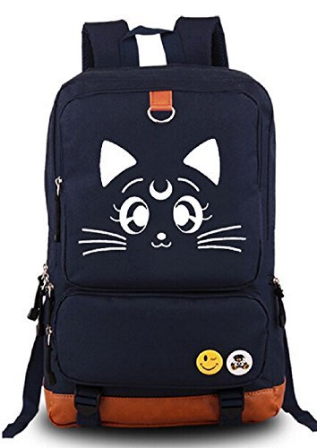 yoyoshome® Anime Sailor Moon Cartoon Luna Canvas Rucksack Schultasche - Moon-stil-handtasche