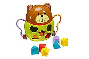 Playkidz - Oso de peluche muy duradero para ordenar juegos de bebés/niños para maximizar el aprendizaje a lo largo de diferentes formas blogs, multicolor