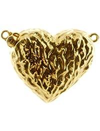 Schließe - 585 Gold, Herz, 19x22 mm