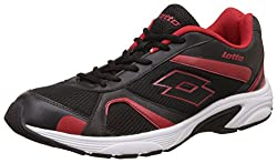Lotto Mens Crator Black and Red Running Shoes - 10 UK/India (44 EU)