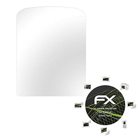 Sandisk Sansa Fuze+ Spiegelfolie - atFoliX FX-Mirror Displayschutz Folie mit Spiegeleffekt