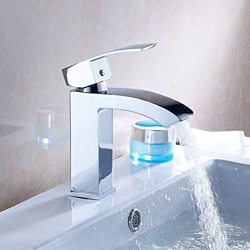 Pinsel Nickel-finish (YHSGY Waschtischarmaturen Bad Pinsel Nickel-Finish Messing Waschbecken Waschbecken Wasserhahn Mischer)