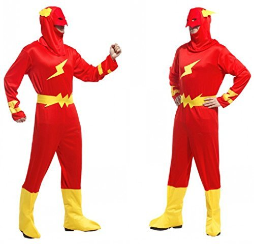 COSTUME DA FLASH ADULTO TAGLIA UNICA TRAVESTIMENTO