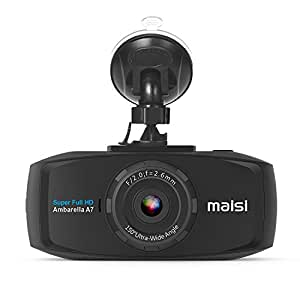 [UPGRADED] MAISI 2K Extreme HD Pro 1296P Car Dash Camera, 2.7-Inch Screen In-Car Dashboard Cam with Collision Detection And Emergency Recording - Resolution Increased by 50% Compared with 1080p