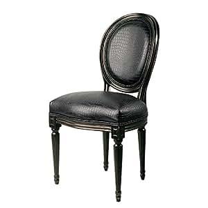 Kare Design Chaise rembourrée Metropolis Louise (lot de 2) - Camphrier massif Imitation cuir marron