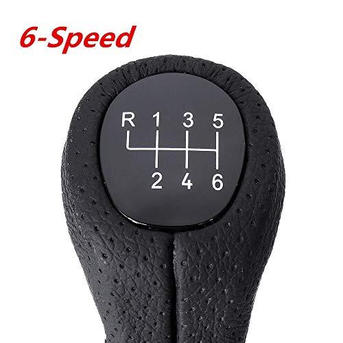 HCDSJSN 5 Geschwindigkeit / 6 Geschwindigkeit Griff Auto Leder schalthebel schaltknauf mit Boot Cover Set für BMW e87 120i 120d 135i Stick schaltknöpfe