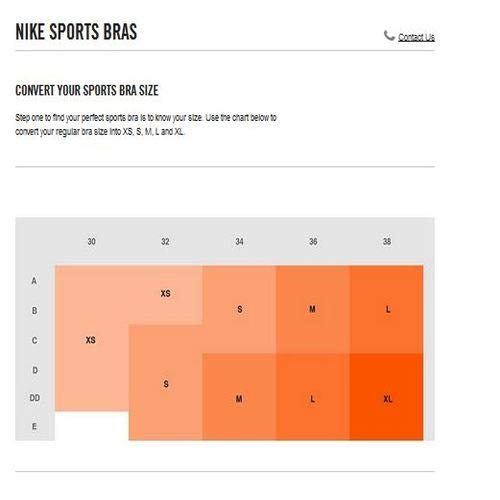 Nike Mädchen Classic Sport-BH, Black/White, XL