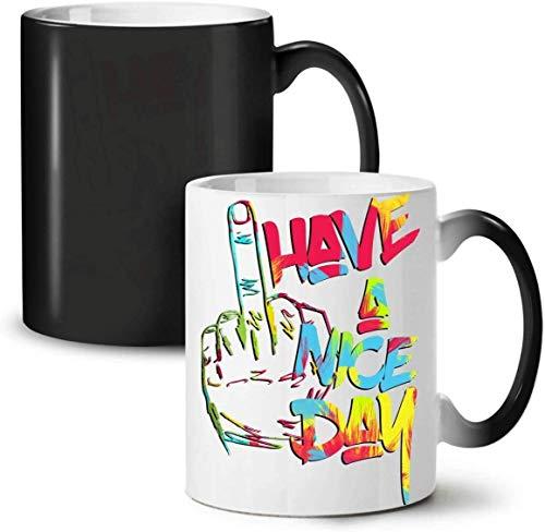 MIEMIE Wunder Tassen Keramik-Kaffeetasse Farbe Design-Änderungen Wenn Hot Have A Nice Day Mode Farbwechsel Tee-Kaffeetasse