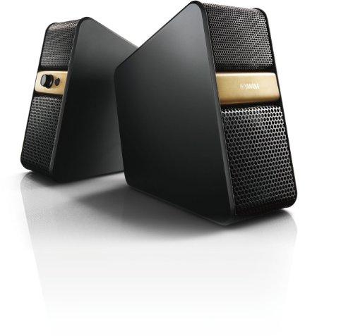 Yamaha NX-B55 Aktiv Lautsprecher mit Bluetooth für TV und PC gold