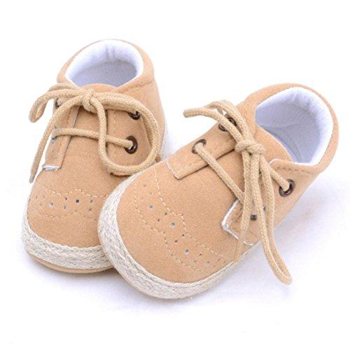 IGEMY Chaussures de berceuses pour bébés néo-bébés pour bébés Chaussures pour berceuses souples et souples Kaki