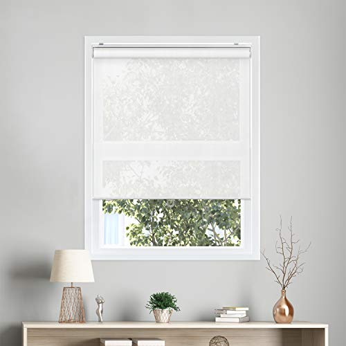 Chicology snap-n '-glide schnurlose Roller Shades, View-tiful White (Solar 5% Openness), 27