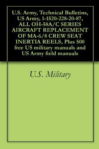 U.S. Army, Technical Bulletins, US Army, 1-1520-228-20-87, ALL OH-58A/C SERIES AIRCRAFT REPLACEMENT OF MA-6/8 CREW SEAT INERTIA REELS, Plus 500 free US ... and US Army field manuals (English Edition) (Us-reel)
