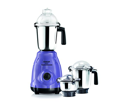 Eveready Bolt 750-Watt Mixer Grinder with 3 Jars (Lavender)