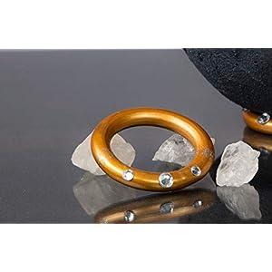 Halter für Lichtschale, Ring gold mit Glitzersteinen | für Lichtschalen Göße XS, S und M | Unikat handmade | Geburtstagsgeschenk | Einzigartiges Geschenk | Weihnachtsgeschenk