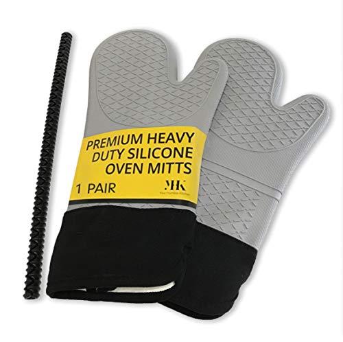 YHK 2 mitones silicona extra largos: guantes profesionales