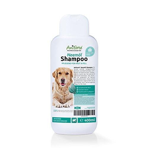 AniForte pflanzliches Neemöl Shampoo 400ml Hundeshampoo parfümfrei - Naturprodukt für Hunde auf pflanzlicher Basis, Hautfreundlich, Pflegend und leicht kämmbar, Angenehm im Geruch