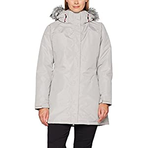 Trespass San Fran, Pebble, L, Waterproof Jacket with Removable Hood for Women, Large, Beige