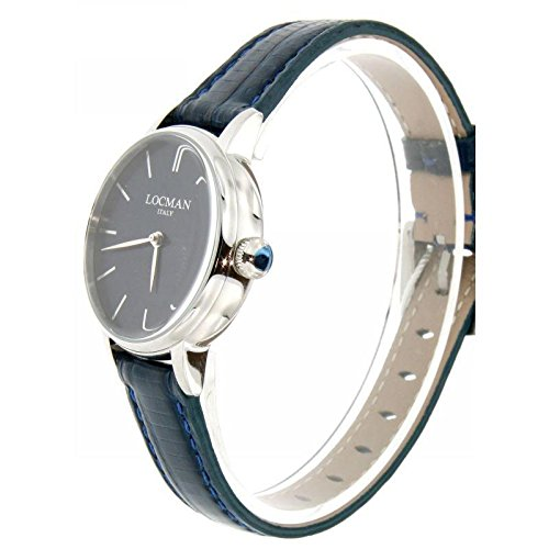 Locman Dolce Vita 1960 0253 a02 a-00blnkpb Quartz Watch (Rechargeable) quandrante Steel Blue Leather Strap