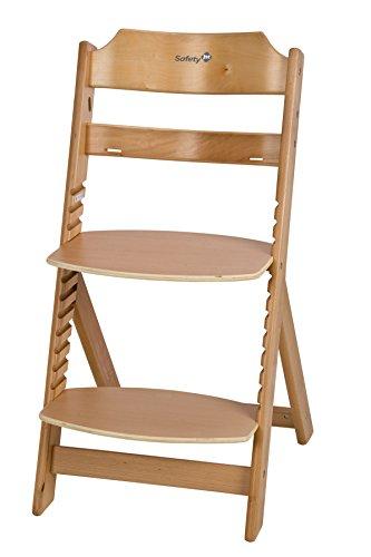 Safety 1st Timba Basic Mitwachsender extragroßer Hochstuhl und Sicherheitsbügel (ohne Tisch, 91 x 56 x 10 cm) buchenholz -