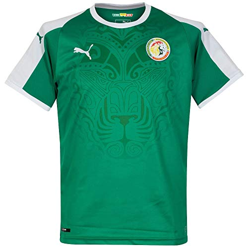 Puma Senegal Away Shirt SS Replica, Maglia Calcio Uomo, Pepper Green White, S