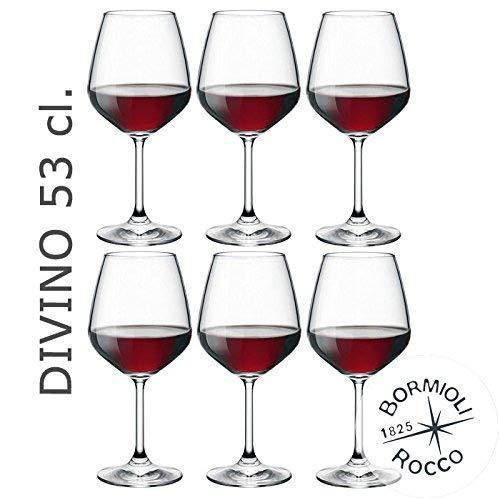 Bormioli Rocco - Set 12 Calici Vino Rosso mod. DIVINO 53 - Capacità: 53 cl.