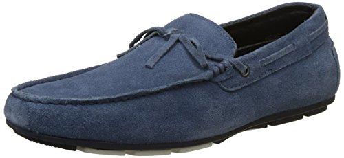BATA Men\'s Svevo Blue Loafers - 7 UK/India (41 EU)(8539003)