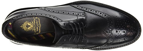 Base London Trench, Chaussures Lacées Homme Noir (Washed Black)