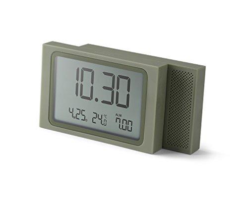 LEXON Slide Clock - Despertador plástico ABS Goma