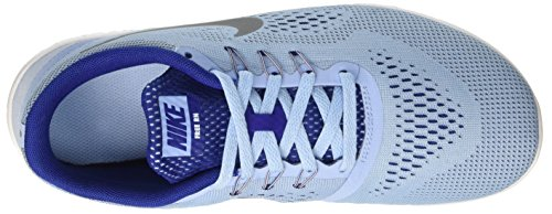 Nike Mädchen Free Rn Gs Trainingsschuhe Multicolore (Bluecap/Metallic Silver-Deep Royal Blue)