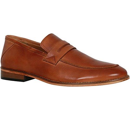 BATA Men's Pedro Tan Leather Formal Shoes