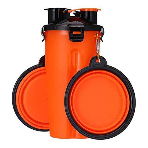 yaya Tragbare Haustier Hund Katze Reisen Wasser Lebensmittel Behälter 1 Flasche Falten Tragbare Trinktafel Schalen Lebensmittel Lagerung Feeder orange - Wein-lagerung-container