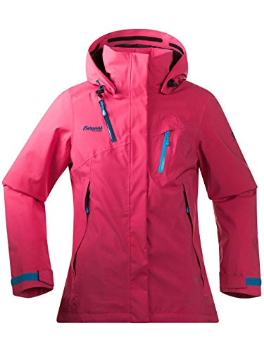 Bergans Tyin Insulated Lady Jacket - Warm gefütterte Regenjacke Hot Pink/Dp Sea/Br Sea Blue