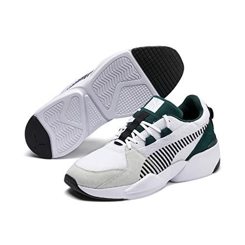 Puma Unisex-Erwachsene Zeta Suede Sneaker, Weiß White-Ponderosa Pine, 40 EU Suede Männer Sneakers