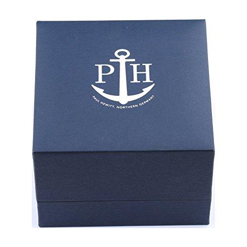 PAUL HEWITT Herren Armbanduhr Sailor Line White Sand IP Gold mit Lederband...