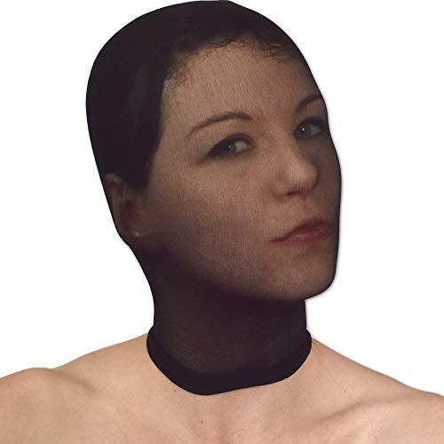(Durchsichtige Nylon Strumpfhosen Maske für's Gesicht (schwarz))