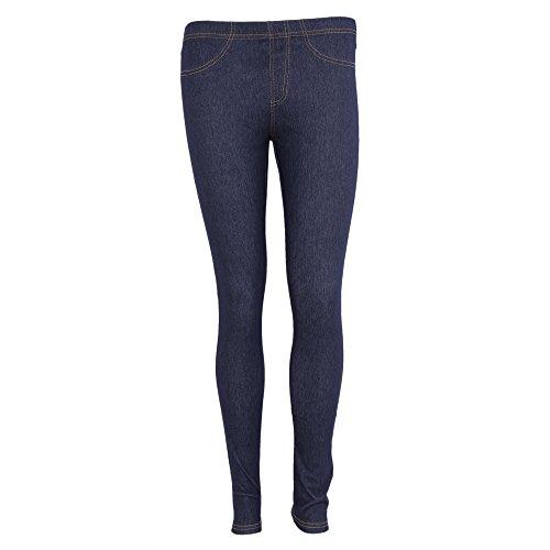 FLOSO - Leggings Effetto Jeans - Jeggings - Donna (48) (Denim)
