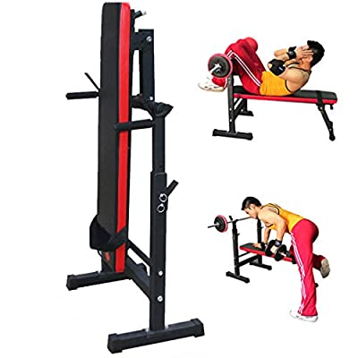 Blackpoolal Foldable Gym Training Equipment Adjustable Weight Bench Folding Multi Sit up Workout Barbell Station Lifting Chest Press Exercise from Blackpoolal