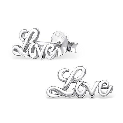 Laimons - Orecchini a pressione - Love - argento Sterling 925