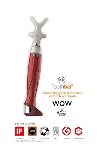 toothbat WOW Zahnseidenhalter für die perfekte Mund- und Zahnreinigung, Interdentalreinigung, Mundhygiene, Gesundheitspflege (Rot)