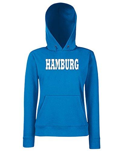 T-Shirtshock - Sweats a capuche Femme WC0820 HAMBURG GERMANY CITY Bleu Royal