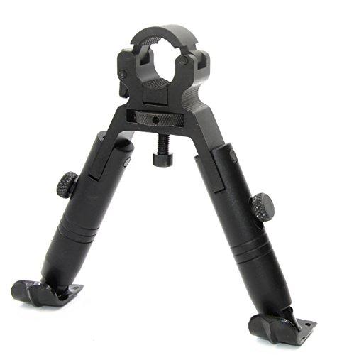 JINSE Tactical Airsoft Sniper Bipod Zweibein Softair Ständer Dragon Claw Clamp-on Einklappbar Height 5.1 Zoll Stahlder Ständer (Swivels Barrel Schwarz)