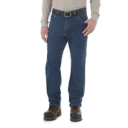 Wrangler Herren RIGG Workwear Big & Tall Five Pocket Jeans, Mid Stone, 44W / 32L - Men Wrangler Jeans Tall