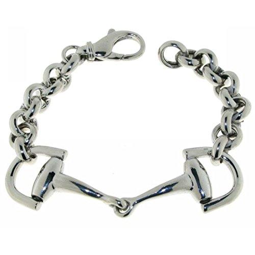 Derby Armband Trensengebiß Trensenarmband massiv echt Silber 22357
