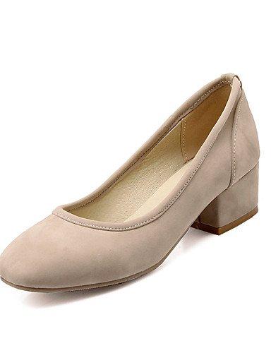 WSS 2016 Chaussures Femme-Mariage / Habillé / Décontracté / Soirée & Evénement-Noir / Bleu / Rouge / Beige-Gros Talon-Talons-Talons-Similicuir red-us5.5 / eu36 / uk3.5 / cn35