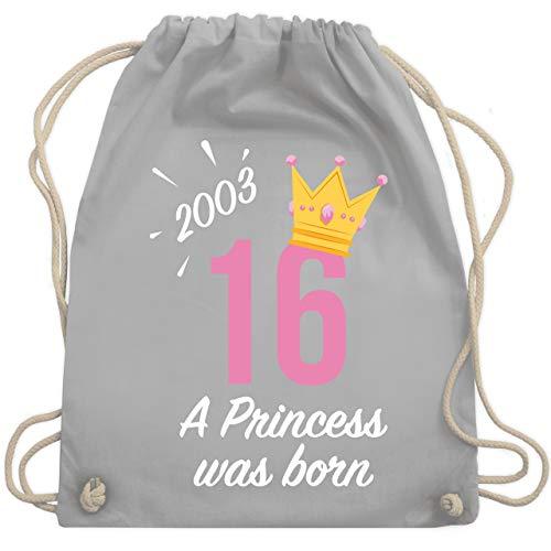 Geburtstag - 16 Geburtstag Mädchen Princess 2003 - Unisize - Hellgrau - WM110 - Turnbeutel & Gym ()