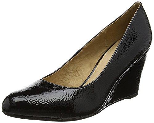Lotus Damen Blaise Plateau Black (Black Crinkle Shiny)