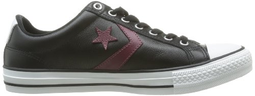 Converse  Sp Ev Cuir Ox,  Sneaker uomo Noir (Noir/Bordeaux)