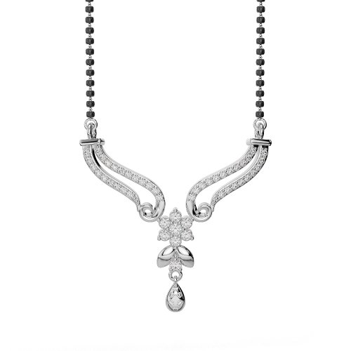 Or blanc/or jaune/Platinum-Collier Femme-diamant mangalsutra dnc-2183-vsgh