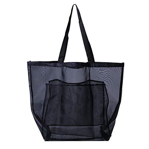 Global Brands Online Mesh Beach Bag Toy Sac fourre-Tout du marché Sacs d'épicerie et de Pique-Nique avec Sac surdimensionné