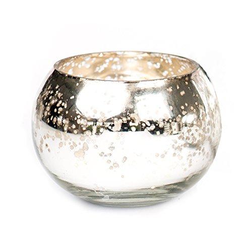 Insideretail LTD Weihnachten Teelichthalter: Quecksilber Glas rund votives-Set von 72, Silber, 7x 7x 7cm (Silber-quecksilber Glas Votives)